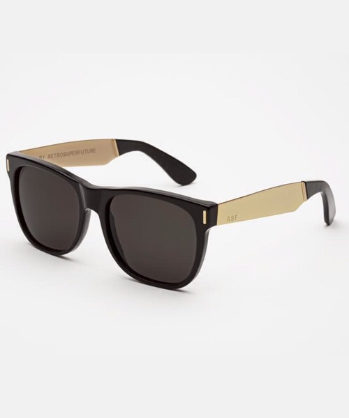 Super Classic Francis Black Gold  Retrosuperfuture Occhiali da Sole Unisex