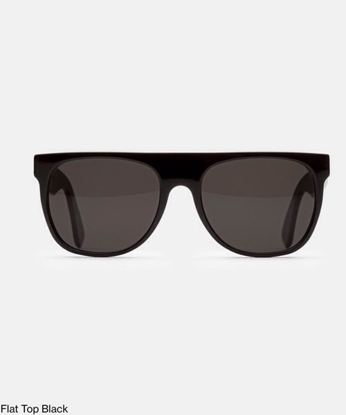 Super Flat Top Black  Retrosuperfuture Occhiali da Sole Unisex